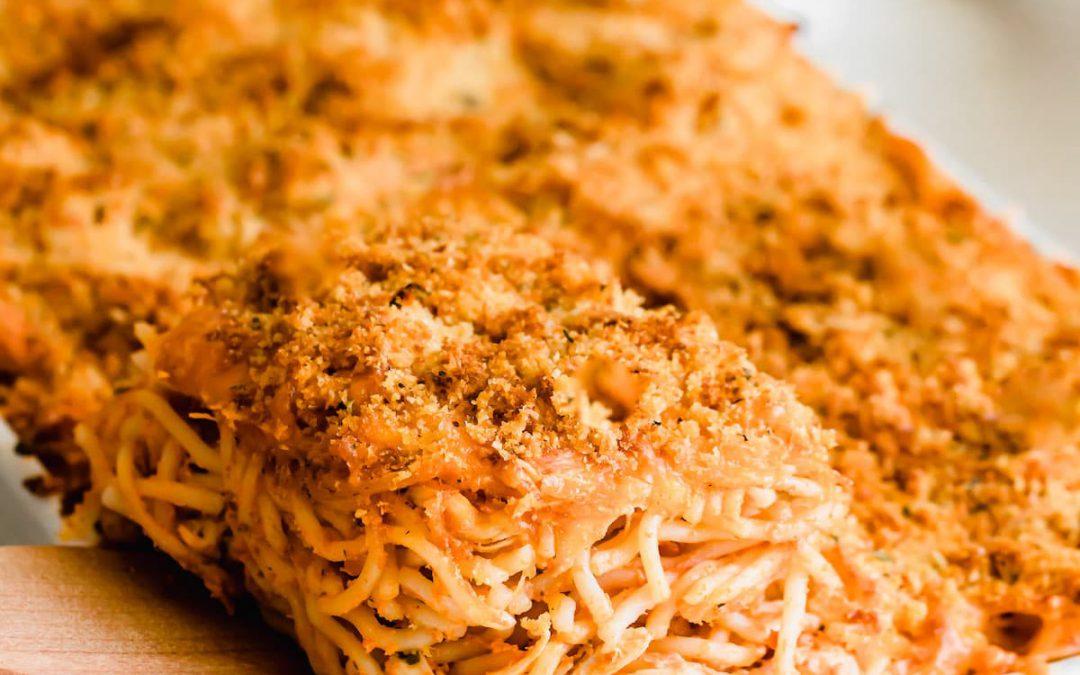 Easy Chicken Spaghetti Casserole Recipe