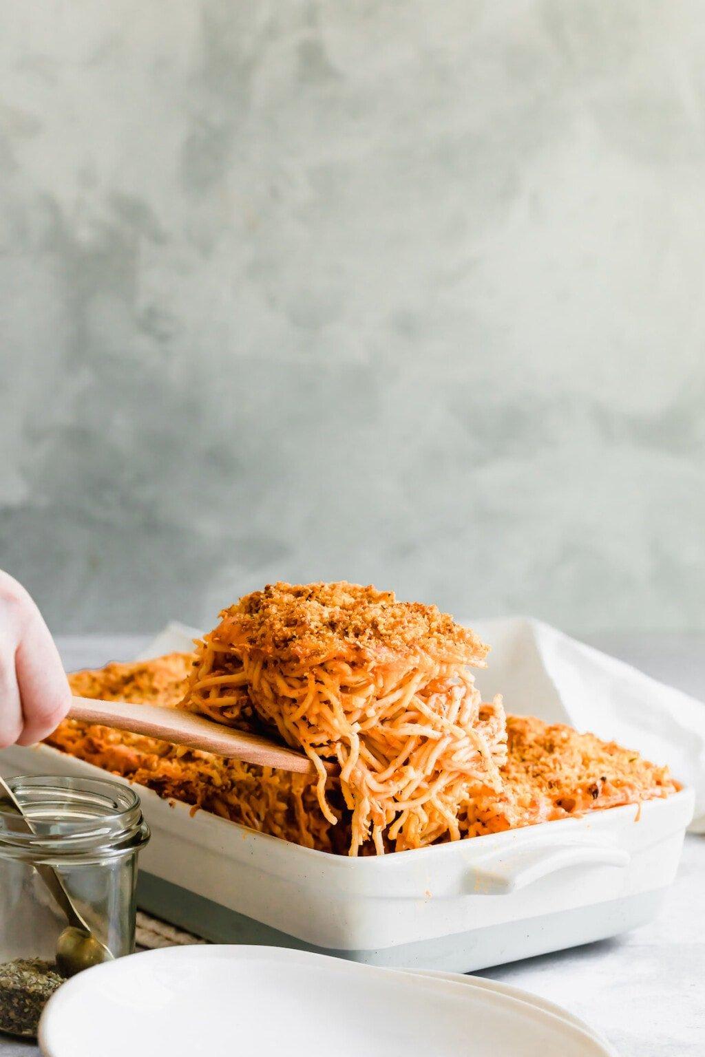 Healthy Easy Chicken Spaghetti Casserole Recipe