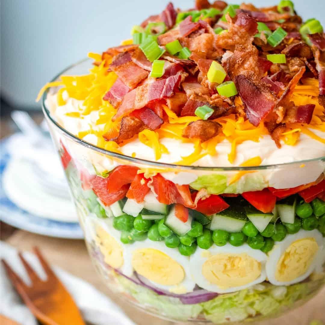 Healthy Seven Layer Salad