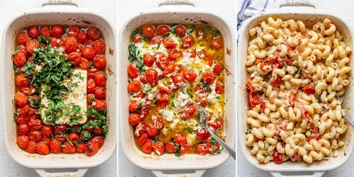 healthy Baked Feta Pasta Recipe