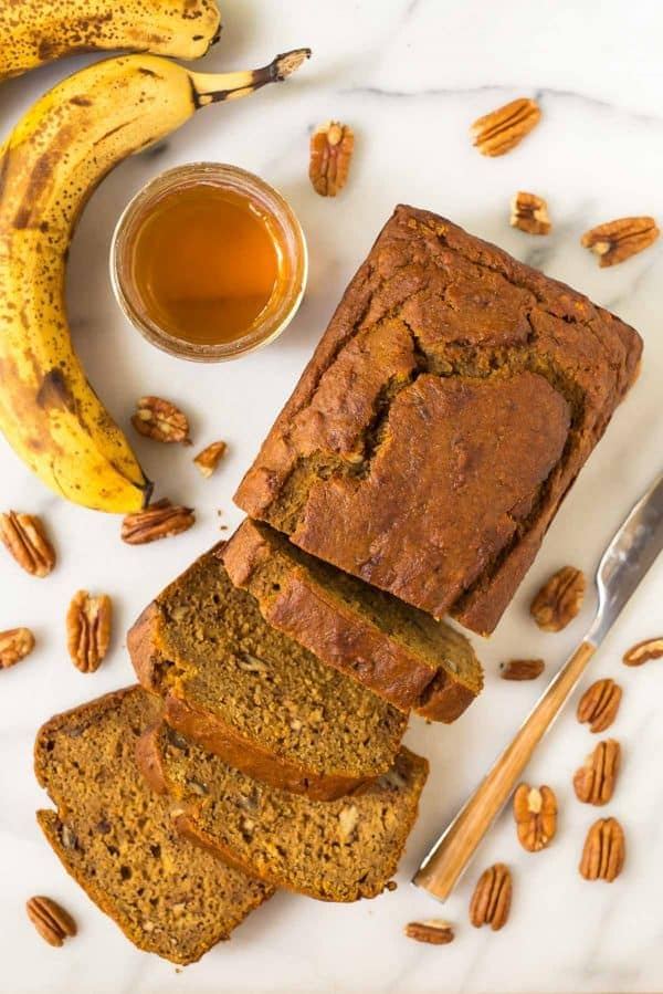 healthy Pumpkin Banana Bread