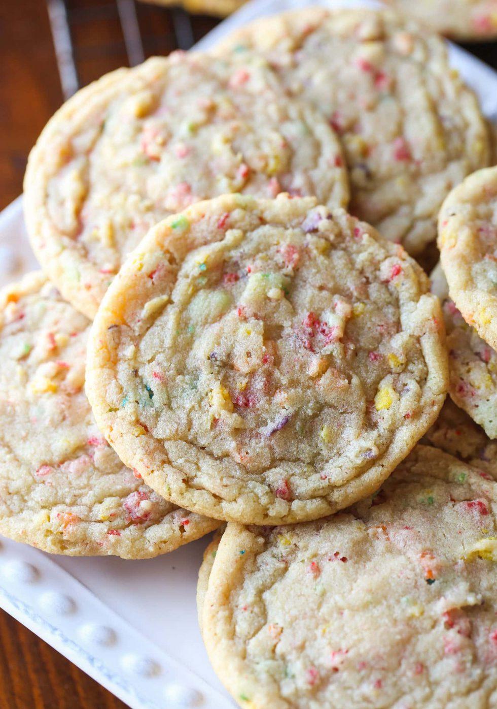 Healthy Fruity Pebbles Sugar Cookies Recipe