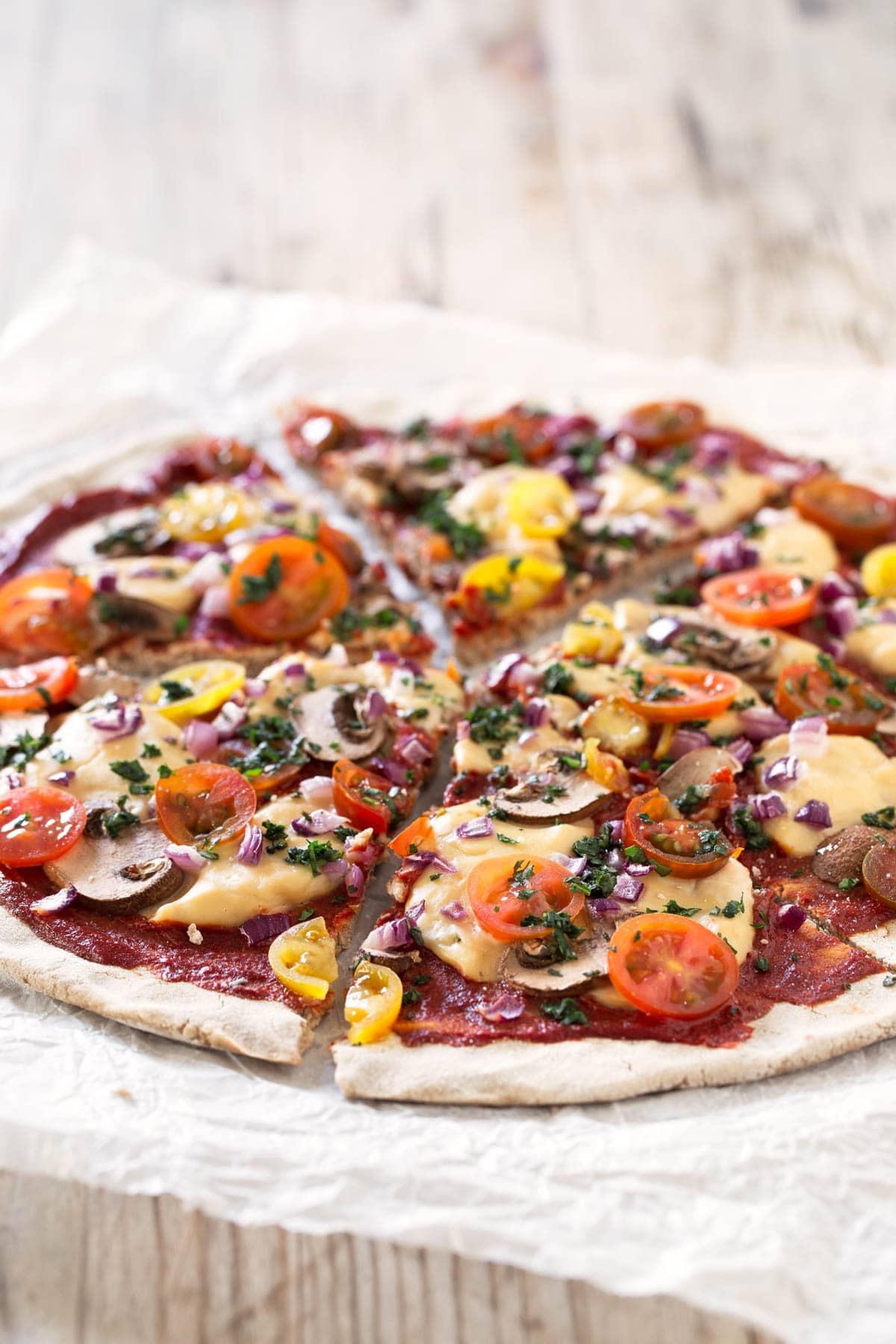 Healthy Gluten-Free Veggie Pizza Recipe