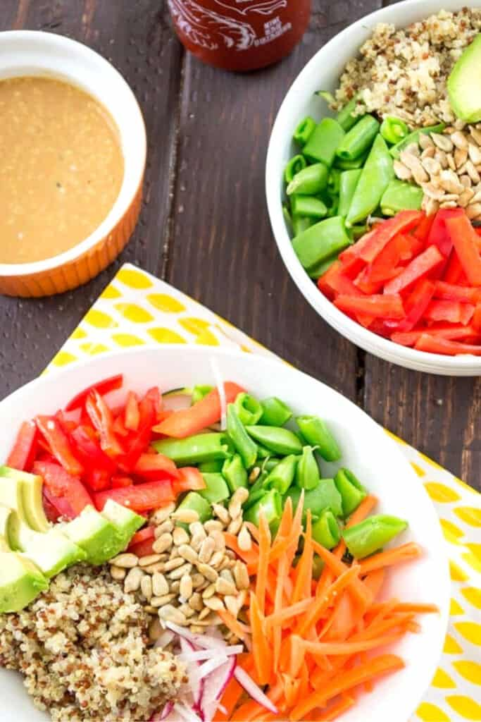 Healthy Asian Zoodle Buddha Bowl Recipe