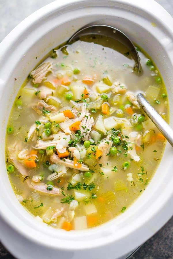Healthy Crockpot Chicken Vegetable Soup Recipe