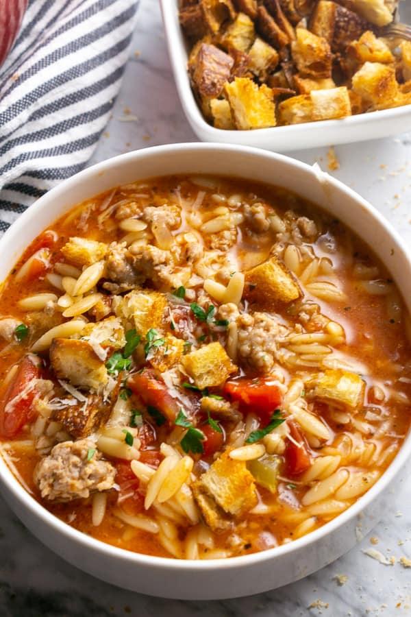 Healthy Italian Sausage Soup Recipe