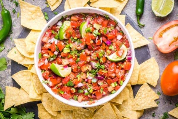 Healthy Homemade Pico De Gallo Recipe