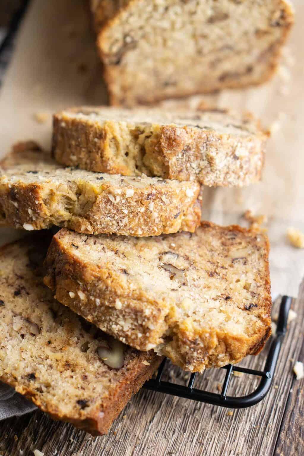 Healthy Banana Walnut Bread Recipe