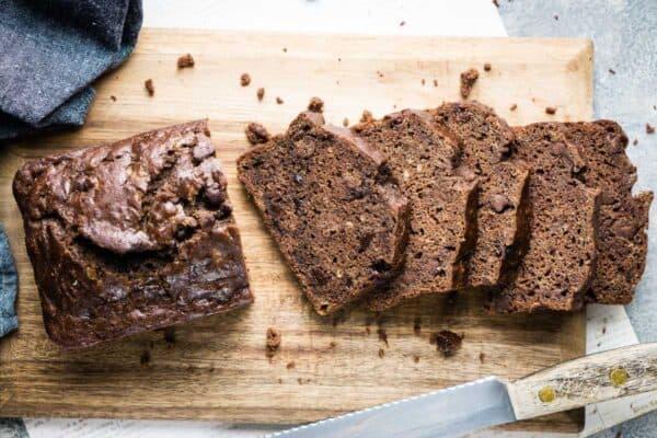 Healthy Double Chocolate Banana Bread Recipe