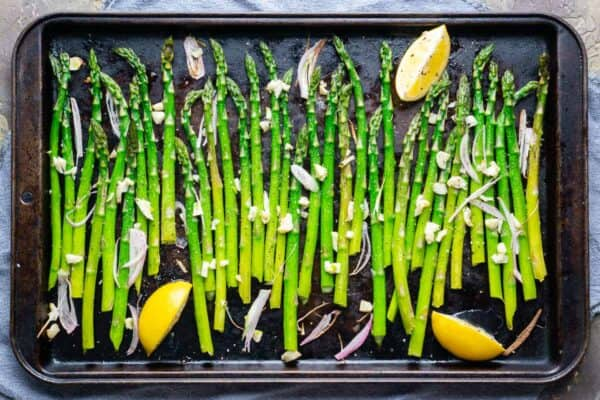 Healthy Lemony Baked Asparagus Recipe