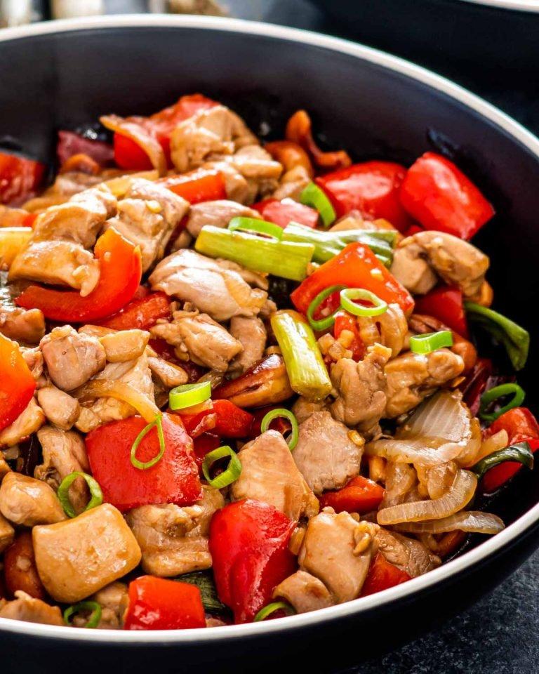 Healthy Thai Cashew Chicken Recipe