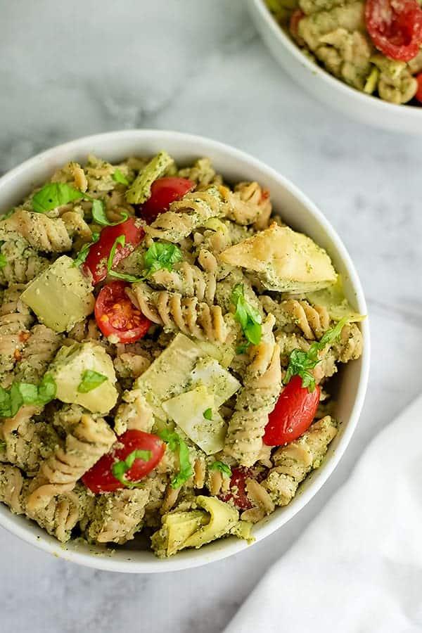 Healthy Artichoke Pesto Pasta Recipe