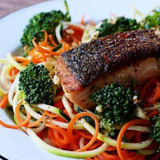 Healthy Crispy Salmon Filet With Lemon Balsamic Dressing Recipe