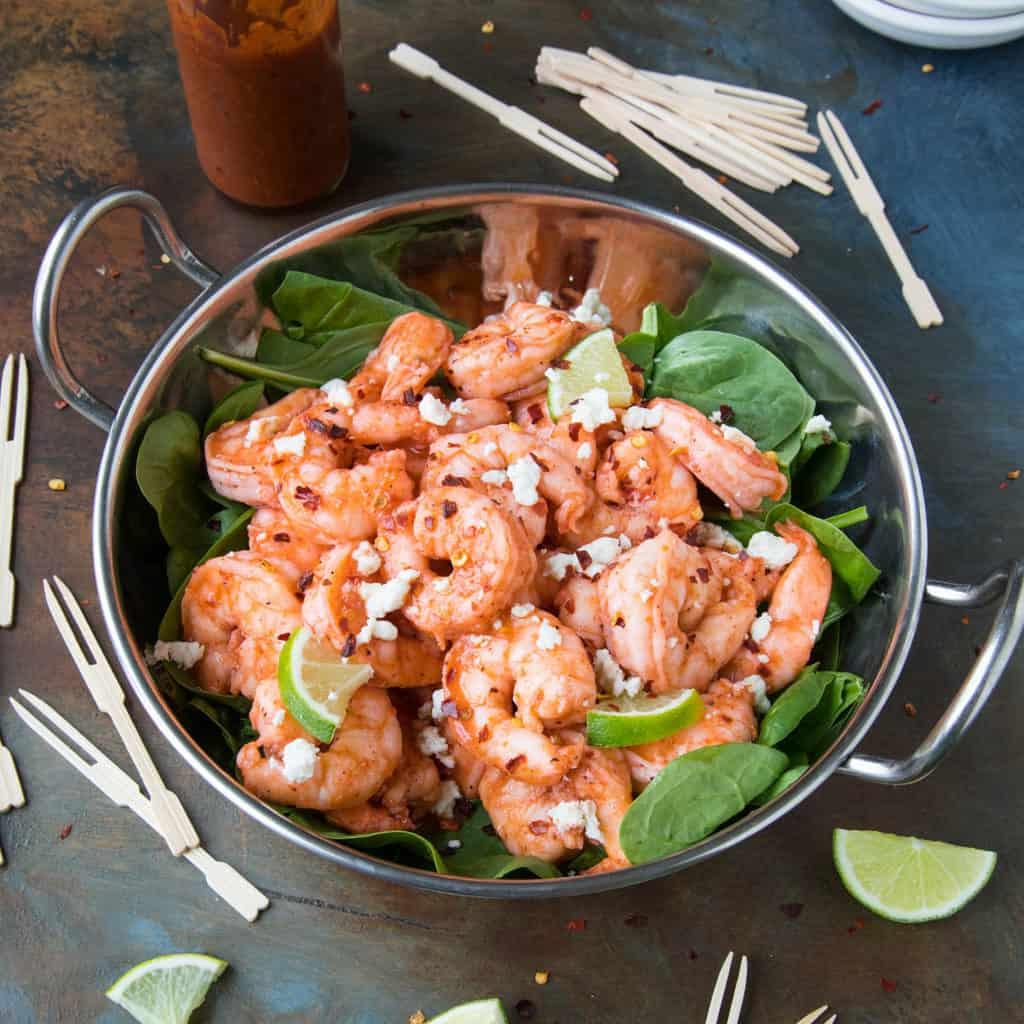 Healthy Grilled Buffalo Shrimp Recipe