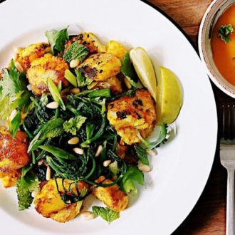 Healthy Vietnamese Turmeric Fish With Herbs And Mango Dipping Sauce Recipe