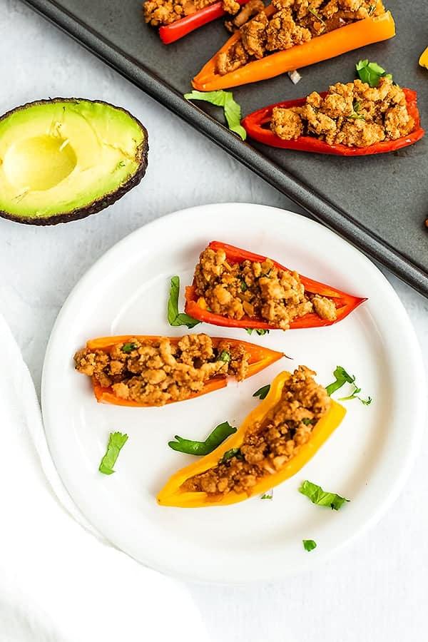 Healthy Paleo Mini Pepper Nachos Recipe