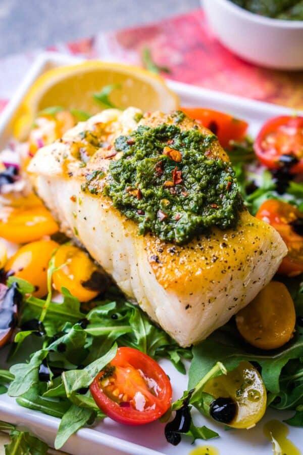 Healthy Pan Seared Chilean Sea Bass Recipe
