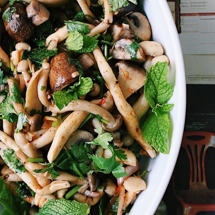 Healthy Forest Mushroom Salad With Parsley And Mint Recipe